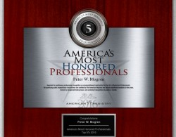 American Registry Most Honored Professional 2016